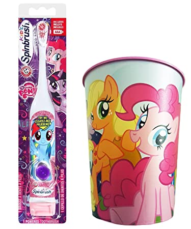 Amazon.com: My Little Pony Rainbow Dash Toothbrush Bundle: 2 Items - Spinbrush Toothbrush, My Little Pony Kids Rinse Cup: Beauty
