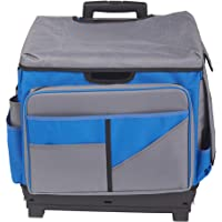 ECR4Kids MemoryStor Universal Rolling Cart and Organizer Bag Set, Juego organizador con ruedas, Azul