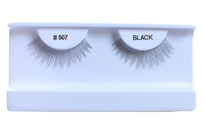 100 Pairs 100% Human Hair False Eyelashes Natural Black #507