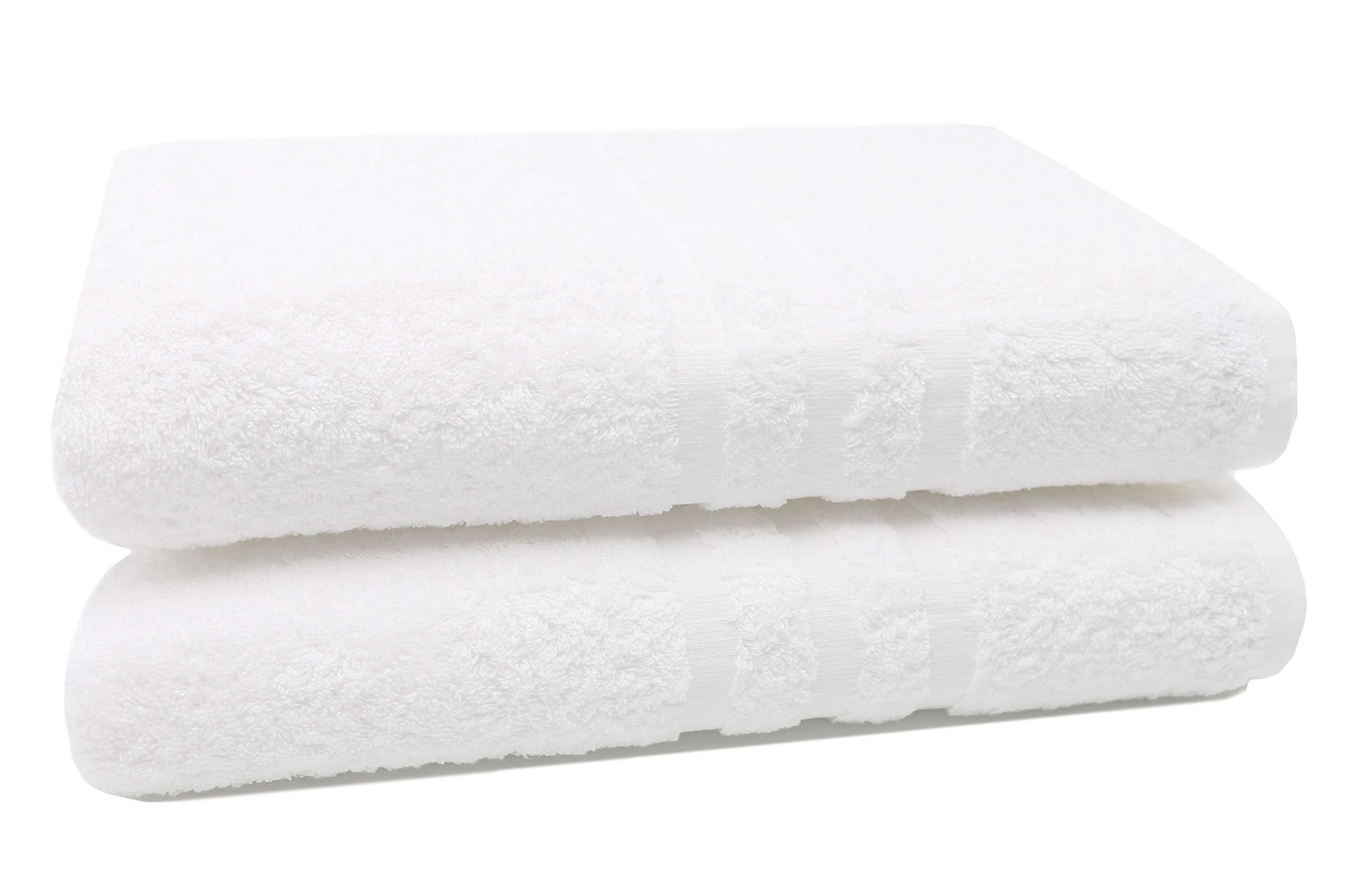ZOLLNER 2 Toallas de baño Grandes Blancas, 100x150 cm, 100% algodón product image