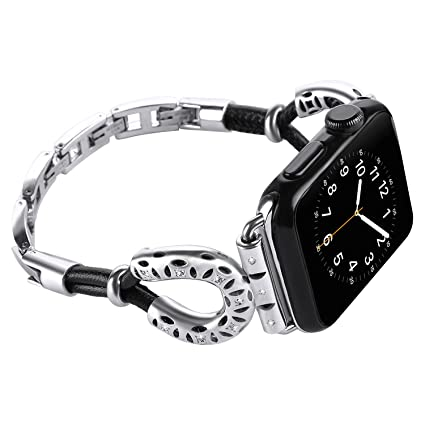 Para Apple Watch Band 38mm Series 3,2,1 iWatch Pulsera cuero para mujeres