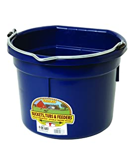 Little Giant 8 Quart Flat Back Plastic Bucket