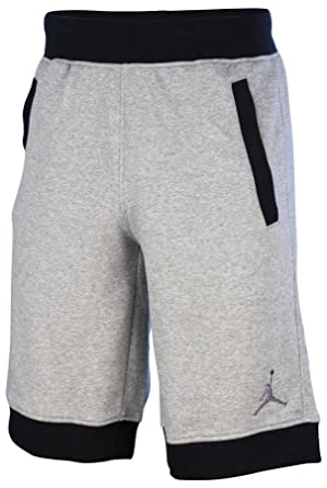 5045bf9ea4f0a9 Men s Jordan Fleece Shorts (642453-066) - DARK GREY HEATHER BLACK ...