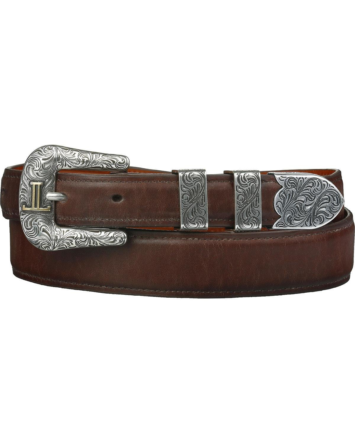 Lucchese Men's Ranch Hand Leather Belt Tan 36