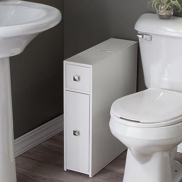 Belham Living Longbourn Narrow Bath Cabinet White