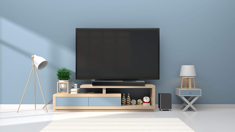 HDMI Arc Subwoofer Blanc T/él/écommande Radio FM C/âble RCA AUX /& USB Optique Majority Ben Nevis II+ 150W Barre de Son Home Cinema TV Syst/ème Bluetooth