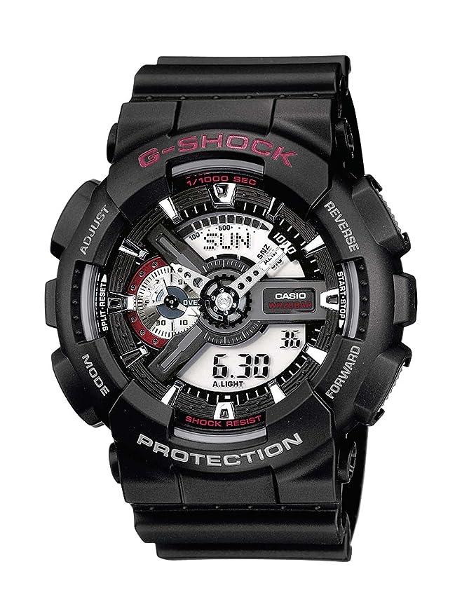 Casio Reloj analógico-Digital para Hombre de Cuarzo con Correa en Resina GA-110-1AER: Casio: Amazon.es: Relojes