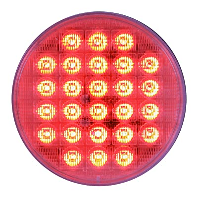 "Grand General 74893 Red 4"" Smart Dynamic LED Sealed Light: Automotive"
