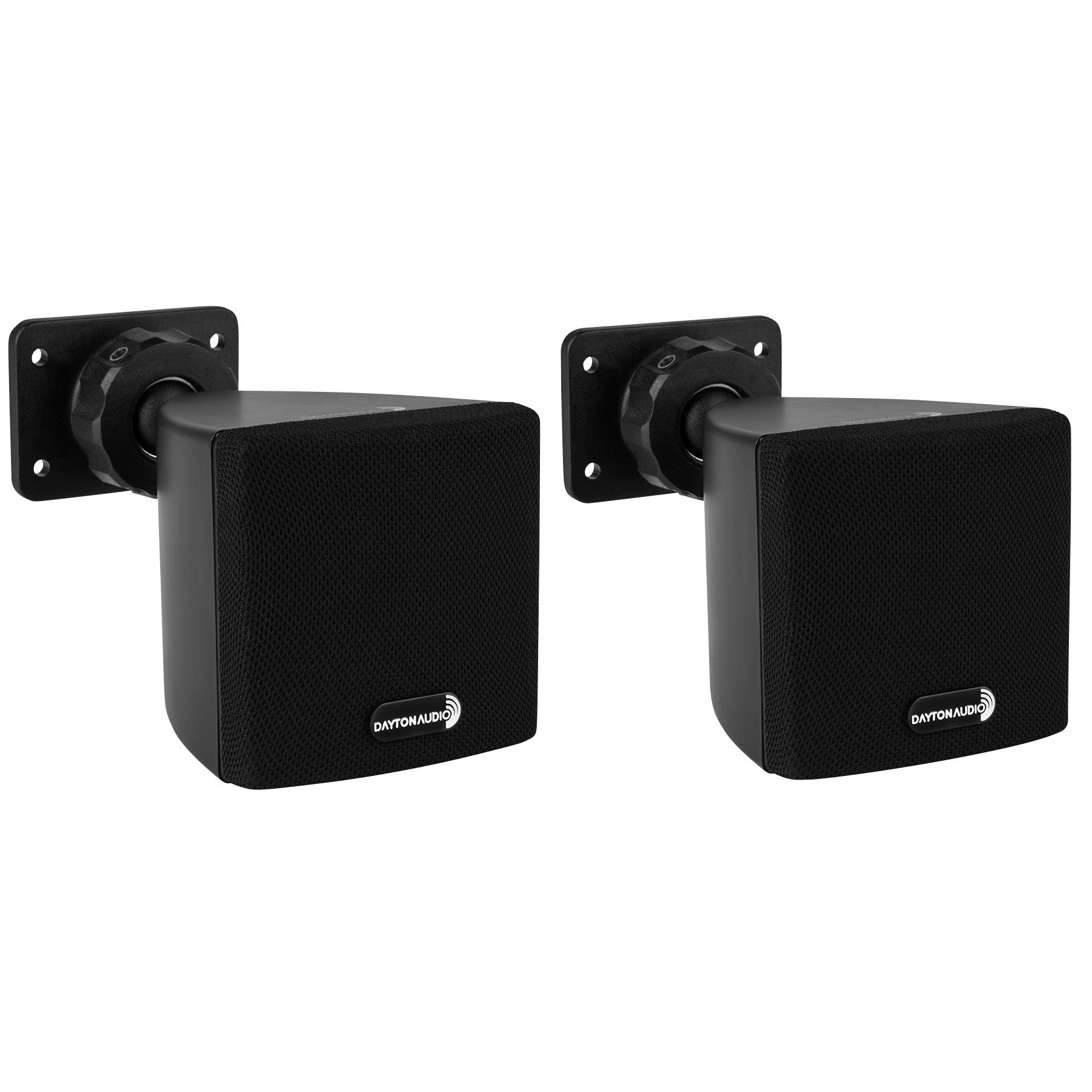 Dayton Audio SAT3B 3'' Cube Speaker Pair (Black) by Dayton Audio