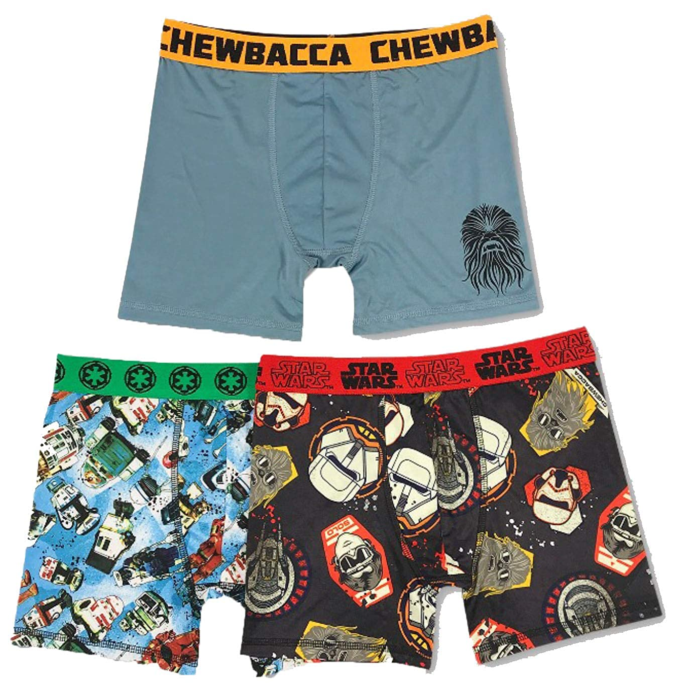 Handcraft Boys Star Wars Han Solo 3pk Athletic Boxer Briefs Underwear