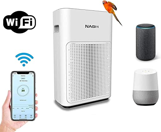 NASH purificador de aire inteligente WiFi, True H11 HEPA+ ...