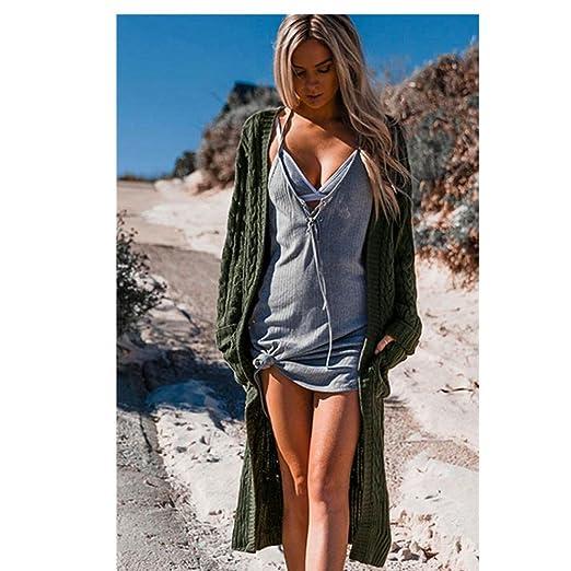 Amazon.com: minisoya mujeres Bohemia Maxi chaqueta de punto ...