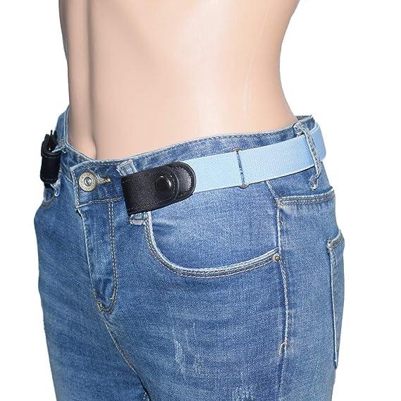 Javpoo Cinturón elástico invisible para niños/adultos sin hebillas ...