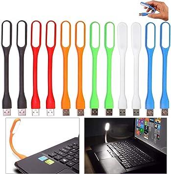 12 Piezas Mini Lamparas USB Portatil Flexible Lámparas LED de ...