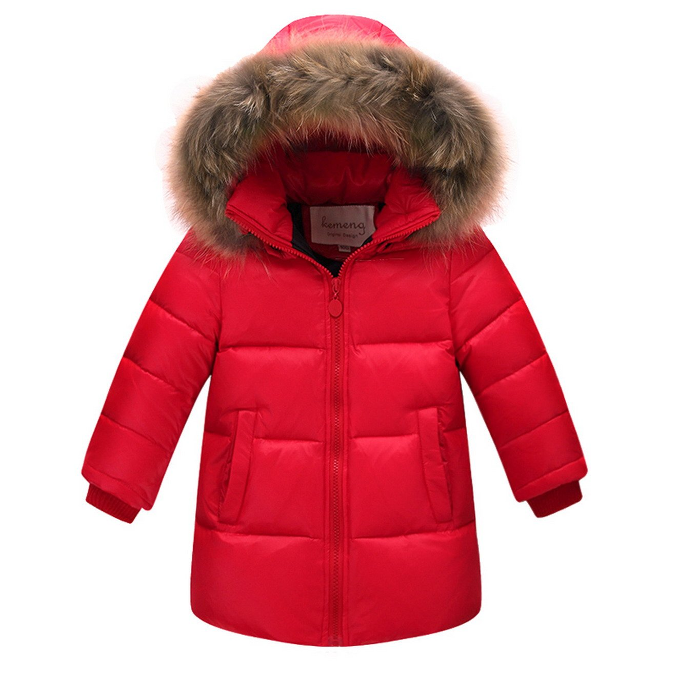 Toddler Baby Boys Girls Winter Warm Down Outerwear Ruffle Warm Hooded Jacket Coat ACMEDE