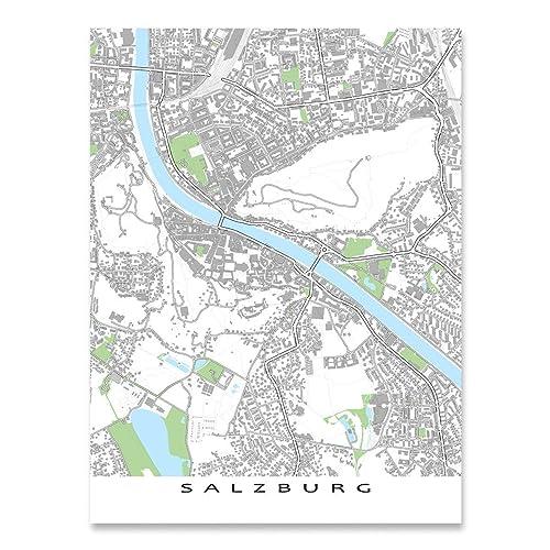 Salzburg Map Print, Austria, Europe, Art Poster, City Buildings on berchtesgaden map, bad gastein map, prague map, alps map, xanthi map, saalbach hinterglemm map, bruges map, heidelberg map, austria map, hamburg map, albania map, zurich map, sarajevo map, hallstatt map, innsbruck map, wan chai map, qandahar map, munich map, strasbourg map, europe map,