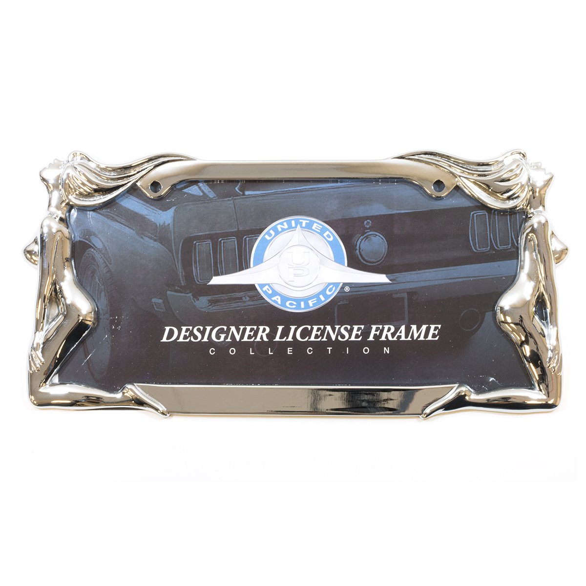 United Pacific 50034 Black Chrome Scorpion License Plate Frame