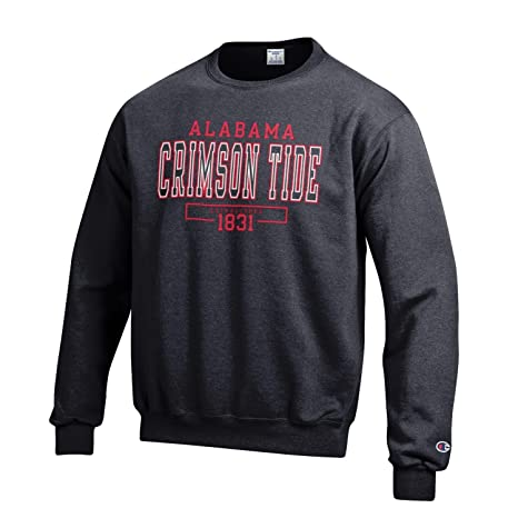 afd6fad7c Champion NCAA Men's Eco Powerblend Crewneck Sweatshirt Officially Licensed  Fleece