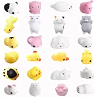 Amaza 24pcs Squishy Kawaii Squishies Animaux Slow Rising Squeeze Animal Stress Reliever Anti-stress Jouet (Multicolore)