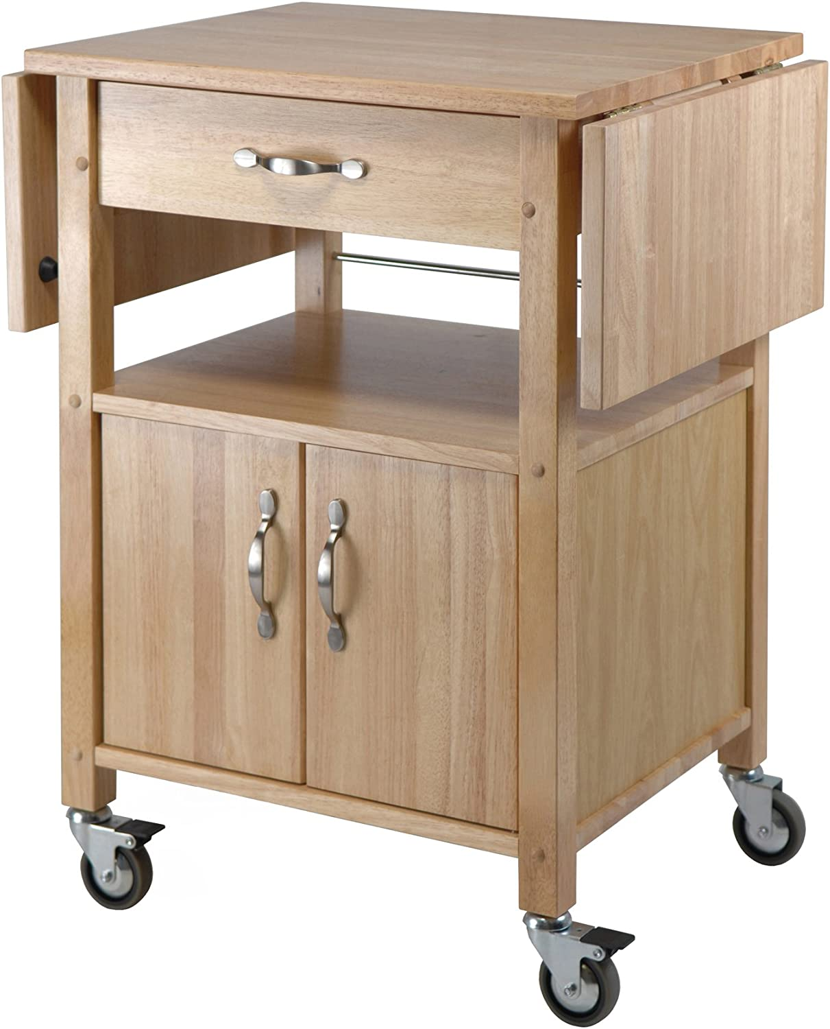 Winsome Wood Drop-Leaf Kitchen Utility Cart