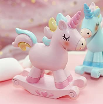 NOMSOCR Squishy Unicorn Toy Birthday Cake Toppers Dessert Table Decorations For Kids