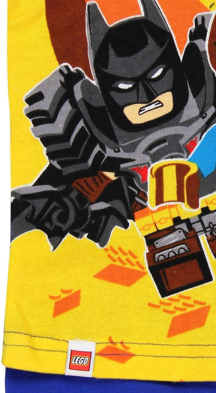 Lego Movie 2 Boys 4 piece Short Sleeve Tee Shorts Pajamas Set