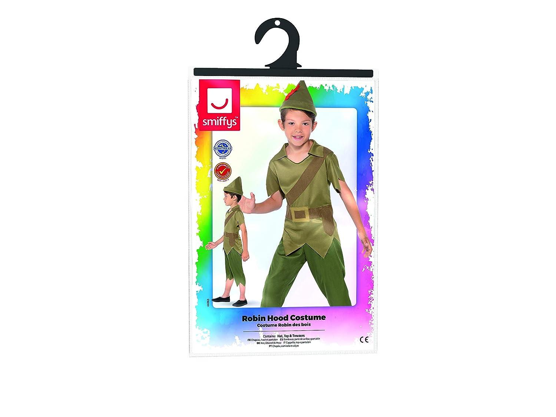 con cappello top e pantaloni Verde Smiffys Costume Robin Hood