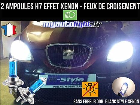 Pack Bombillas H7 blanco Xenon luz croisement-code para Seat Leon 2