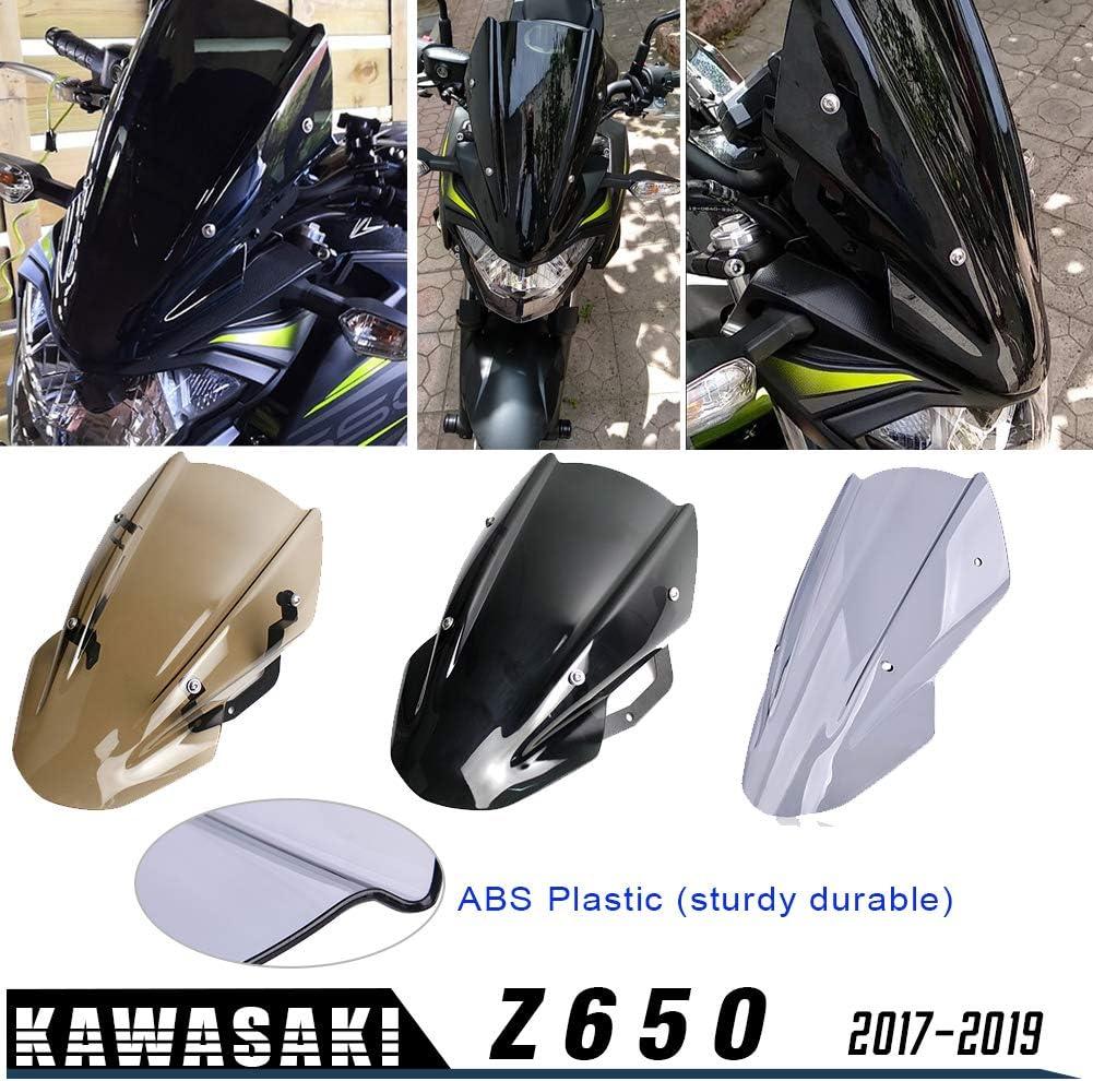 Xx Ecommerce Für Kawasaki Z650 Z 650 Z 650 2017 2018 2019 Windschutzscheibe Windschutzscheibe Visier Viser Mit Halterung Motorrad Z 650 Rauch Auto