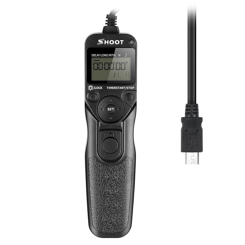 SHOOT RR-90 Temporizador Cable del Disparador Remoto del de Pantalla LCD para Fuji RR-90 Fujifilm X-E2, Finepix S1 la Cá mara Finepix S1 la Cámara xtst0754