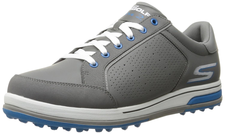 スケッチャーパフォーマンスメンズゴーゴルフドライブ2ウォーキングシューズ、チャコール/ブルー、8 M   B01338ESUI