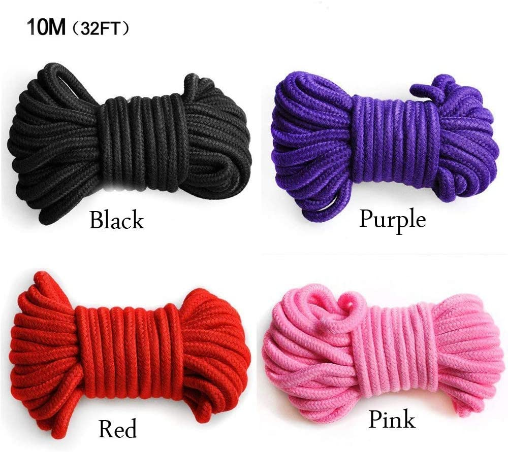 Sturdy and Durable Yitongxing 32 Feet All Purpose Soft Colored Cotton Rope Pack of 3 Red