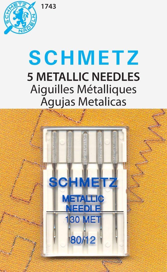 Schmetz Metallic Machine Needles-Size 12//80 5//Pkg