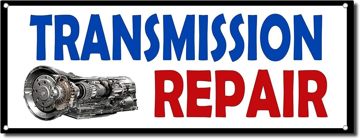 3 x 6 ft AUTO REPAIR 13oz Vinyl Sign Banner w// Grommetscar mechanic trans