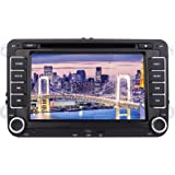 Eincar 7inch GPS Car Stereo Double Din Autoradio Bluetooth Car DVD Player For VW Volkswagen HD Digital Touch Screen Head Unit Support GPS Navigation Bluetooth USB/SD CanBus For SAGITAR JETT PASSAT SKODA POLO include 8GB Map Card