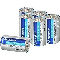 Westinghouse Alkaline Batteries, Size D Alkaline Battery, D Cell Primary Battery (D, 6 Counts)
