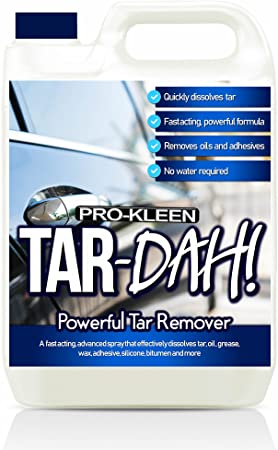 Pro Kleen My856531 Dah Powerful Tar Bug Remover For Cars Rapidly Safely Dissolves Tar Safe On All Metal Paintwork Trims Plastic Glass 5l