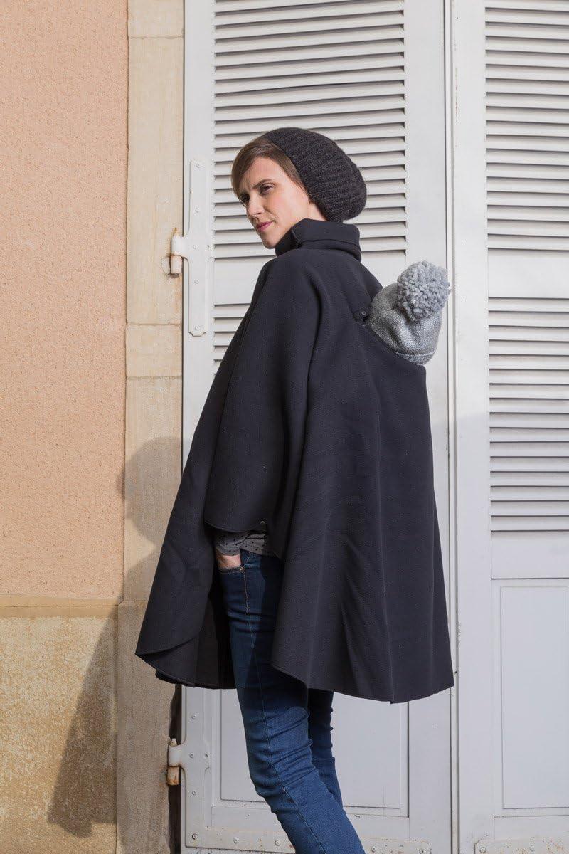Poncho de grossesse et de portage noir