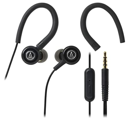 Audio-Technica SonicSport ATH-COR150ISBK in-Ear Headphones with Mic (Black) On-Ear Headphones at amazon