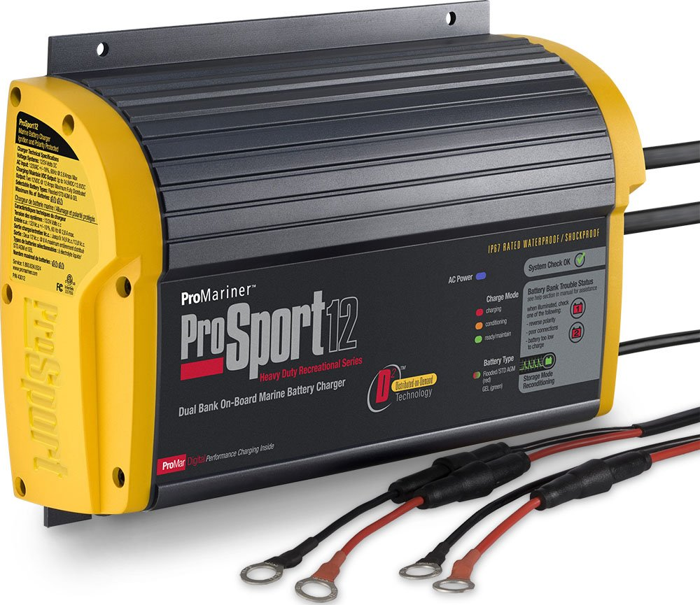 ProMariner 43012 ProSport 12 12 Amp 2 Bank Battery Charger