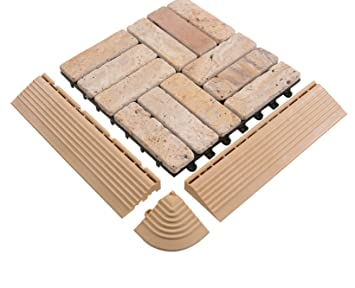 Travertin Fußboden Fliesen ~ Bodenmax® naturstein travertin click bodenfliesen set 30 x 30 cm