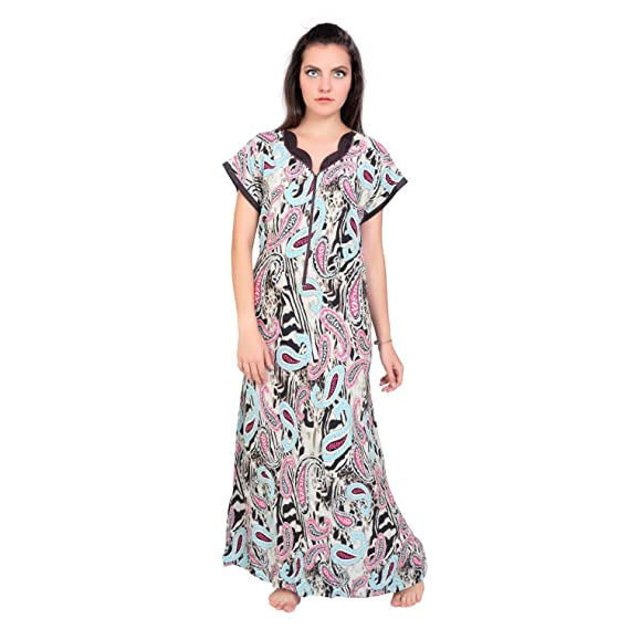 8b015f4298 FARRY Imported Cotton Jersey Nightgown for Women Comfortable and  Straight-Fit Ladies Nighty
