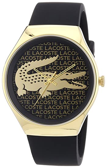 Lacoste 2000808 - Reloj analógico de cuarzo para mujer, correa de silicona color negro: Amazon.es: Relojes