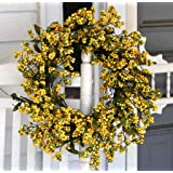 "Bountiful Berry Wreath 24"" - Golden Yellow"