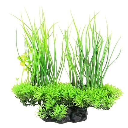 Rocita - Plantas Artificiales de Seda para Acuario, decoración Decorativa, Hierba para pecera (