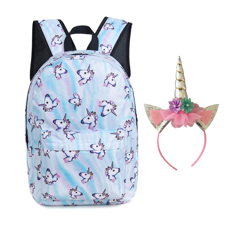 Amazon.com   Unicorn Backpack Lightweight Kids School Preschool Travel Backpack for Girls with Free Unicorn Headbands or Unicorn Keychain   Kids Backpacks