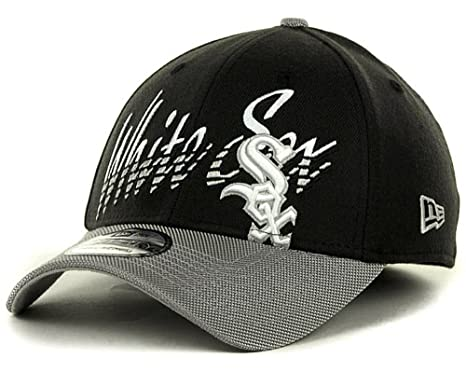 sports shoes f1d13 12fc1 Chicago White Sox New Era MLB 39Thirty Stretch Cap Hat  quot Double  Edge quot  (