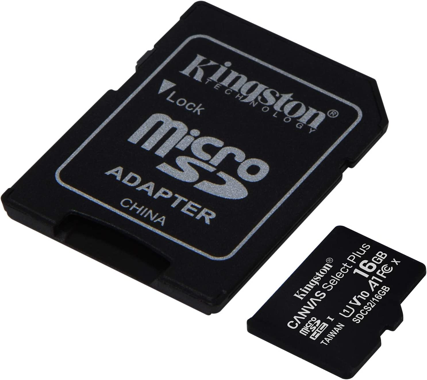 Professional Kingston 16GB MicroSDHC Micromax X252 with custom formatting and Standard SD Adapter! 32Mbps // Class 4