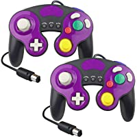 YCCTEAM Wired Gamecube Controllers for Nintendo Switch, Game Cube NGC Classic Controller Compatible with Wii U, for Ultimate Super Smash Bros (2 Packs)