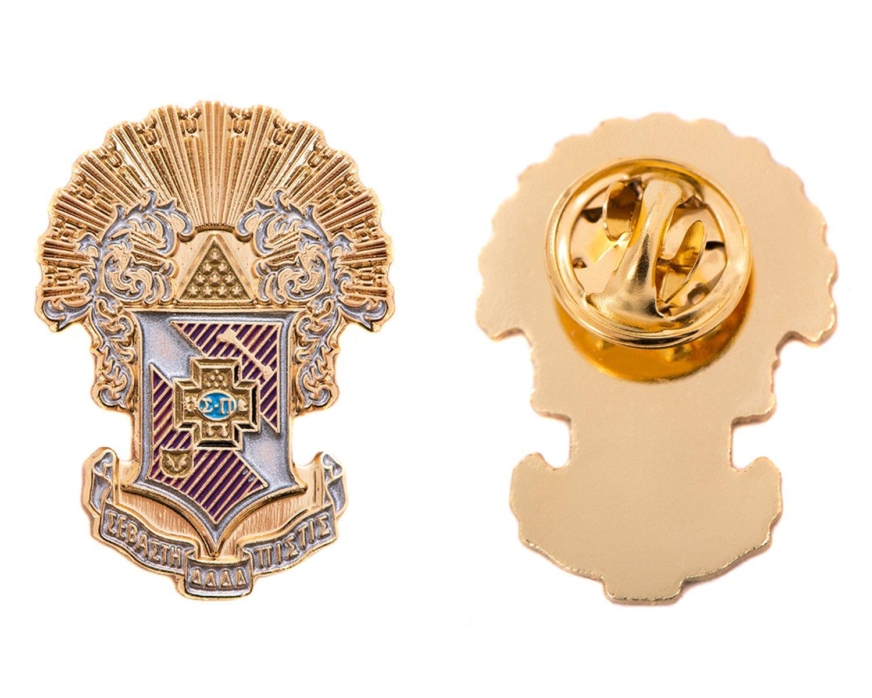 Desert Cactus Sigma Pi Fraternity Crest Lapel Pin Enamel Greek Formal Wear Blazer Jacket by Desert Cactus (Image #1)